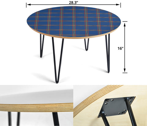 MacLaine of Loch Buie Hunting Ancient Tartan Circular Coffee Table - BN