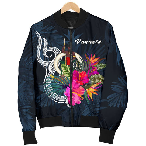 Vanuatu Polynesian Women's Bomber Jacket - Tropical Flower - BN12