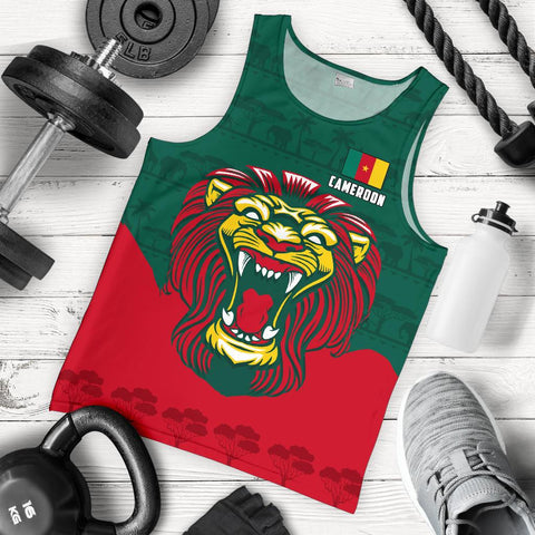 Cameroon Men Tank Top Lion