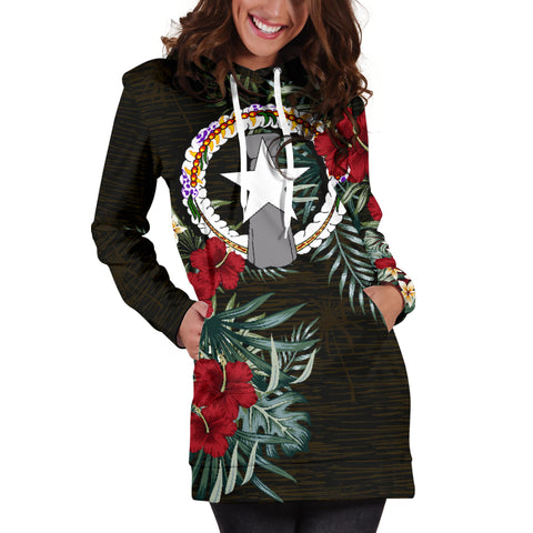 Image of Northern Mariana Islands Hibiscus Hoodie Dress A7