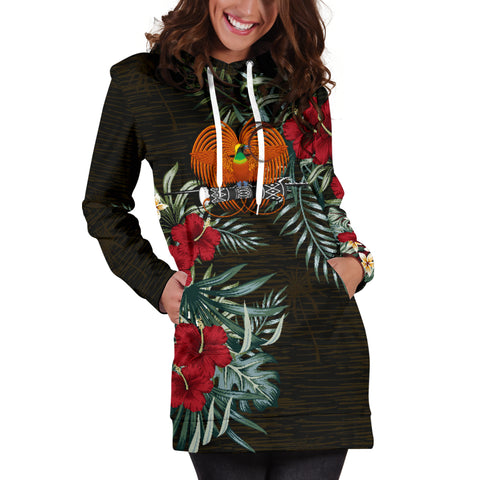 Image of Papua New Guinea 2 Hibiscus Hoodie Dress A7