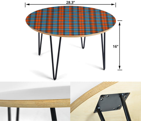 MacLachlan Ancient Tartan Circular Coffee Table - BN