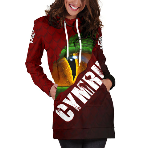 Welsh Hoodie Dress - Dragon Eyes | Clothing | Love The World
