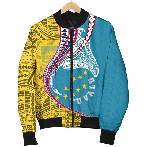 Tuvalu Men's Bomber Jacket Manta Polynesian TH65