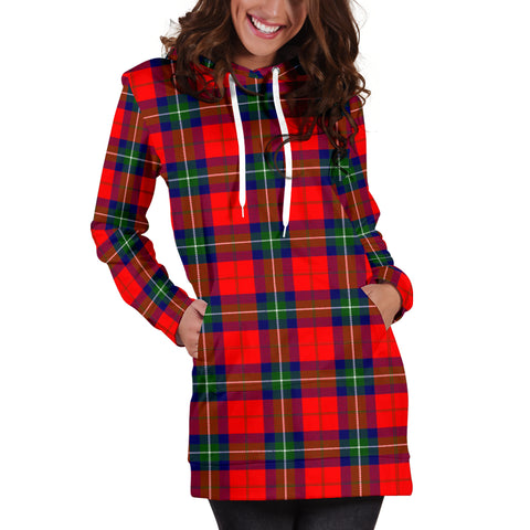 Image of Ruthven Modern Tartan Hoodie Dress HJ4
