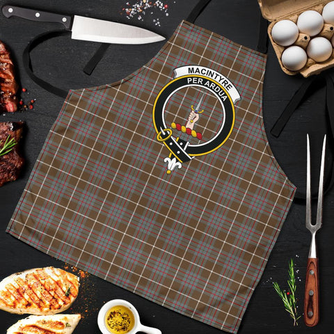 Image of MacIntyre Hunting Weathered Tartan Clan Crest Apron HJ4