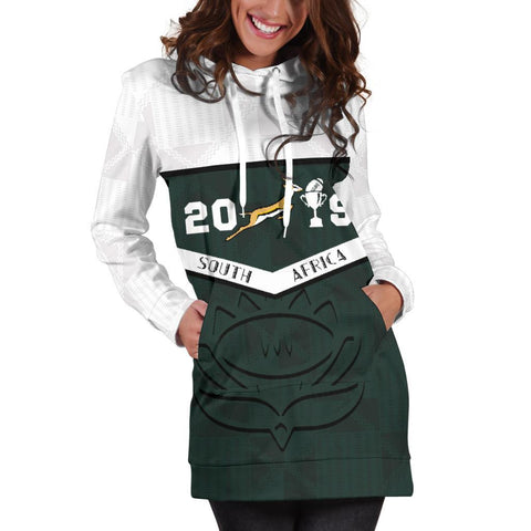 South Africa Springbok Champion 2019 Hoodie Dress 5