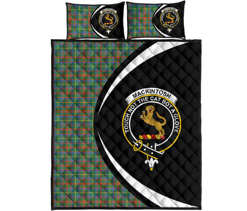 Image of MacKintosh Hunting Ancient Tartan Quilt Bed Set Circle HJ4