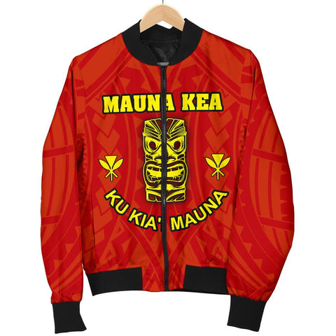 Hawaii Mauna Kea Women's Bomber Jacket - Tiki Mask - BN12