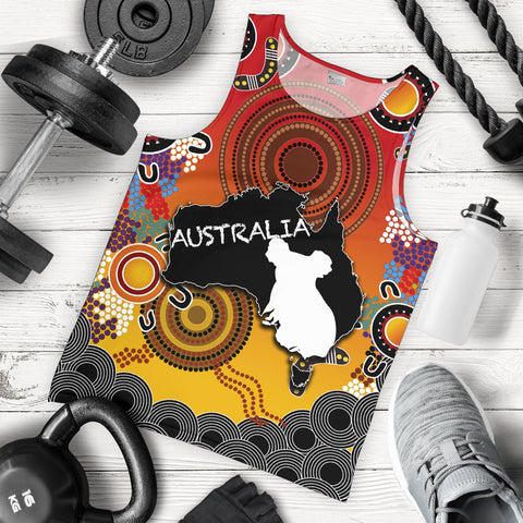 Australia Aboriginal Men's Tank Top With Map TH4