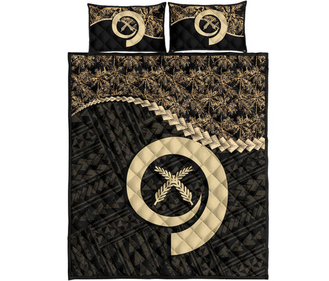 Vanuatu Quilt Bed Set Golden Coconut A02