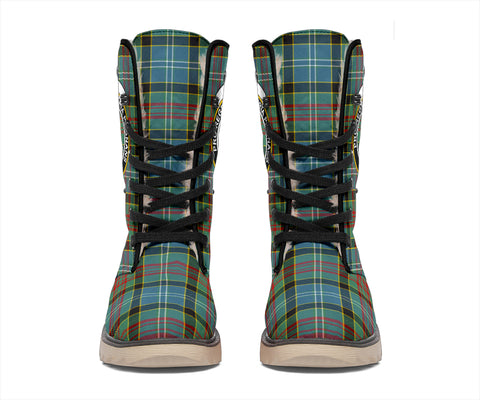 Paisley District Tartan Clan Crest Polar Boots Hj4