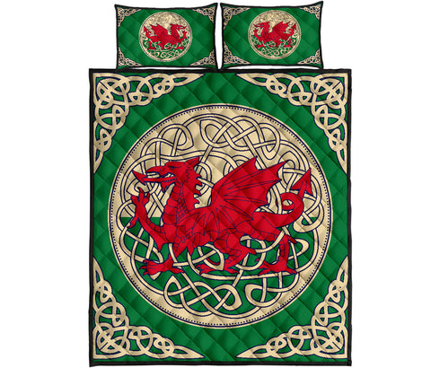 Wales Quilt Bed Set - Welsh Dragon Quilt Bed 06 - BN02