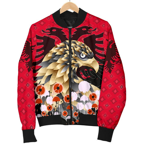 Happy Albania Independence Day Women's Bomber Jacket - Albania Golden Eagle - BN21