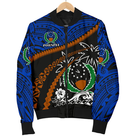 Image of Pohnpei Men Bomber Jacket - Road to Hometown K4