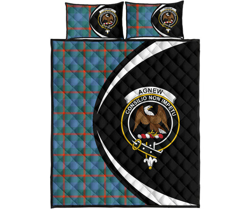 Image of Agnew Ancient Tartan Quilt Bed Set Circle HJ4