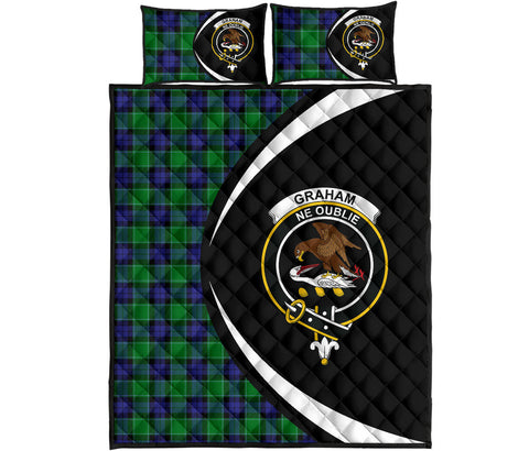 Image of Graham of Menteith Modern Tartan Quilt Bed Set Circle HJ4