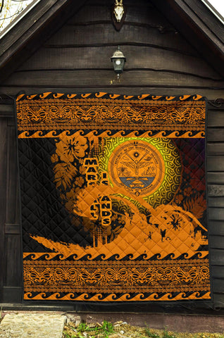 Marshall Island Quilt Wave Gold Design K62