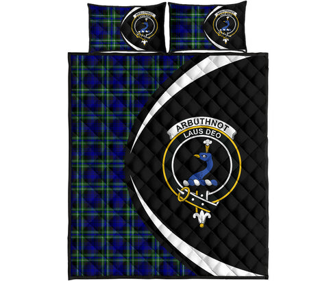 Image of Arbuthnot Modern Tartan Quilt Bed Set Circle HJ4