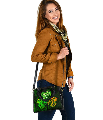 Ireland Celtic Shoulder Handbag  - Irish 3D Shamrock