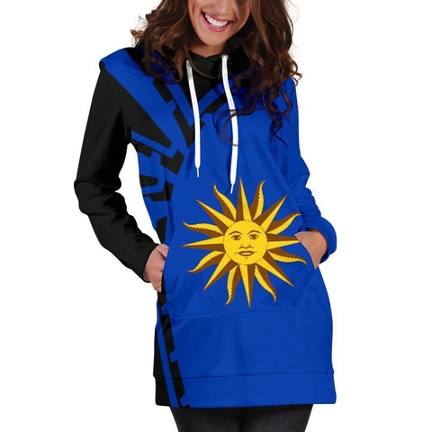 Image of Uruguay Hoodie Dress Premium Style - Front - 3