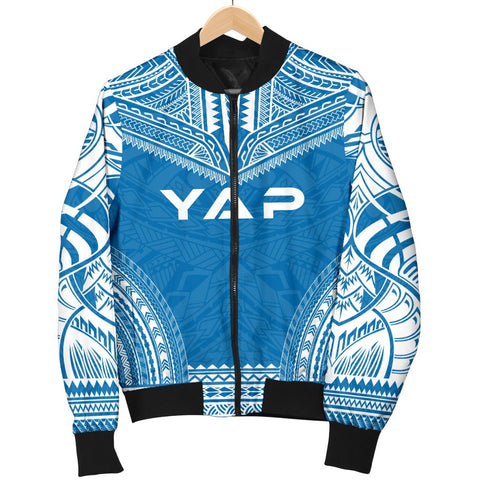 Image of Yap Flag Polynesian Chief Men's Bomber Jacket - Bn10