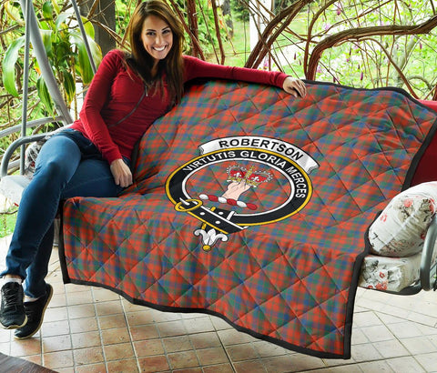Robertson Ancient Tartan Clan Badge Premium Quilt | 1sttheworld.com