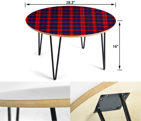 MacLachlan Modern Tartan Circular Coffee Table - BN