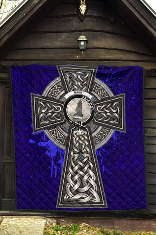 Mar Crest Scottish Celtic Cross Scotland Quilt A7