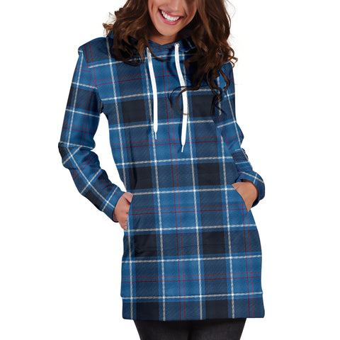 US Navy Tartan Hoodie Dress HJ4 |Women's Clothing| 1sttheworld