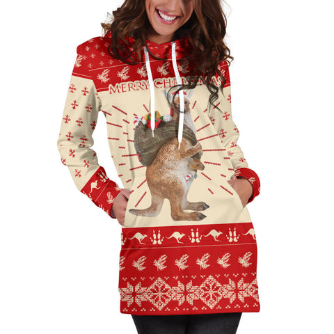 Kangaroo Australian Christmas Hoodie Dress K5