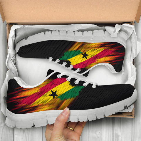 Ghana Sneakers - Fire Wings and Flag A188