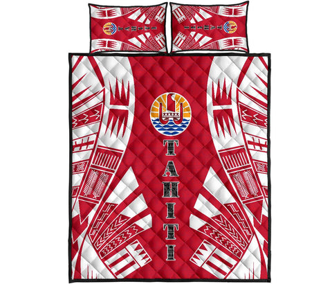 Image of Tahiti Quilt Bed Set - Polynesian Tattoo