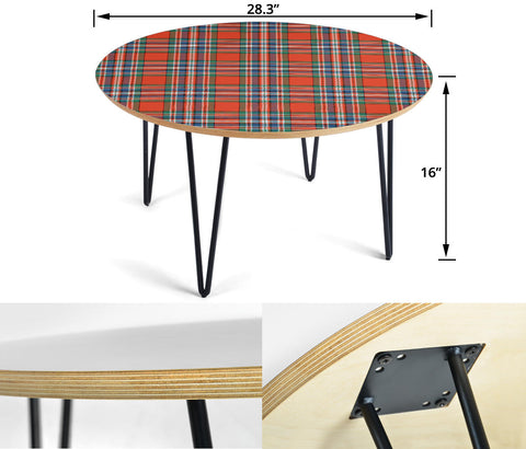 MacFarlane Ancient Tartan Circular Coffee Table - BN