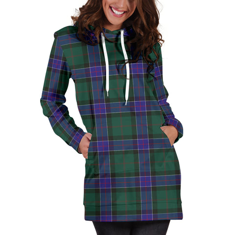 Sinclair Hunting Modern Tartan Hoodie Dress HJ4 |Women's Clothing| 1sttheworld