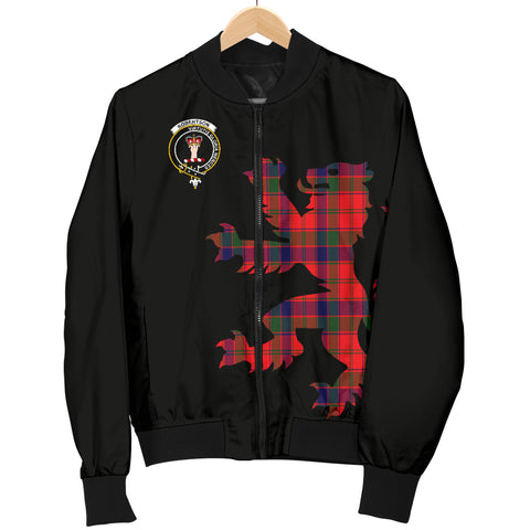 Robertson Tartan Lion And Thistle Bomber Jacket For Men Th8