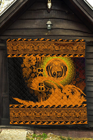 Nauru Quilt Wave Gold Design K62