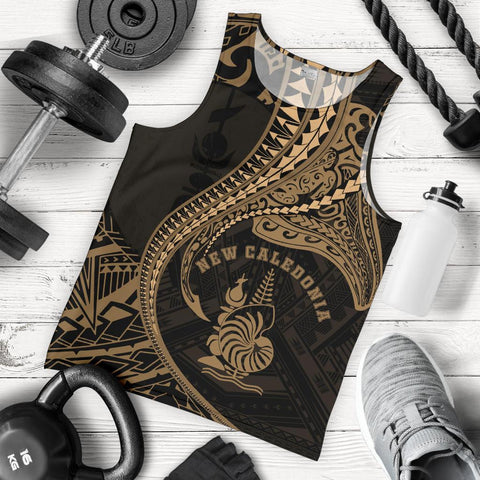 Image of New Caledonia Men's Tank Top Kanaloa Tatau Gen NC (Gold)
