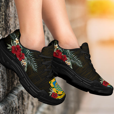 Image of Tuvalu Hibiscus (Men/Women) Chunky Sneakers A7