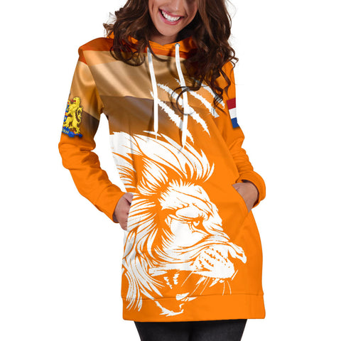 Netherlands Women's Hoodie Dress Netherlands Lion Flag