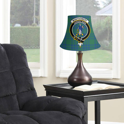 Montgomery Ancient Tartan Clan Crest Bell Lamp Shade HJ4