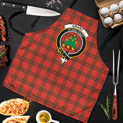 Image of Grant Weathered Tartan Clan Crest Apron HJ4
