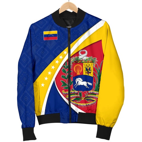 1stTheWorld Venezuela Bomber Jacket, Venezuela Coat Of Arms Pattern A10