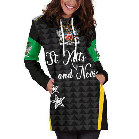 Saint Kitts and Nevis Hoodie Dress Exclusive Edition K4 |Women's Clothing| 1sttheworld
