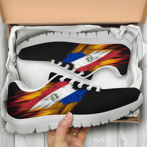 Paraguay Sneakers - Fire Wings and Flag A188