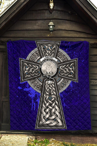 Lamont Crest Scottish Celtic Cross Scotland Quilt A7