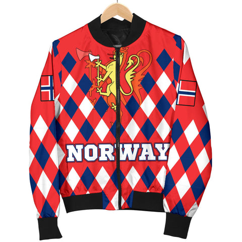 Norway Women's Bomber Jacket - Norway Lion with Flag Color - BN18
