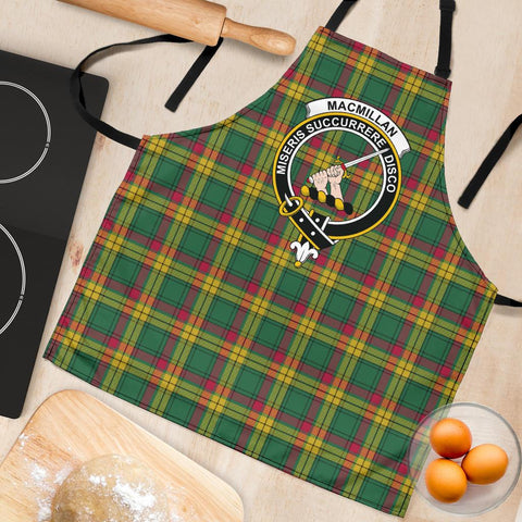 Image of MacMillan Old Ancient Tartan Clan Crest Apron HJ4
