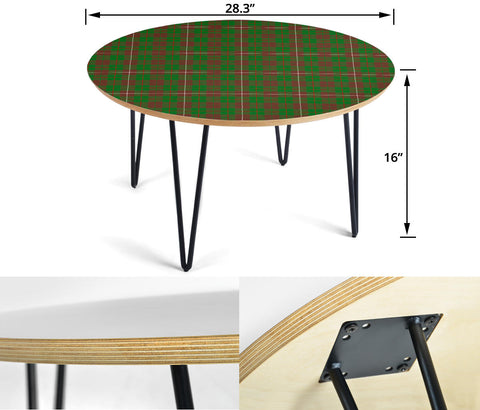 MacKinnon Hunting Modern Tartan Circular Coffee Table - BN