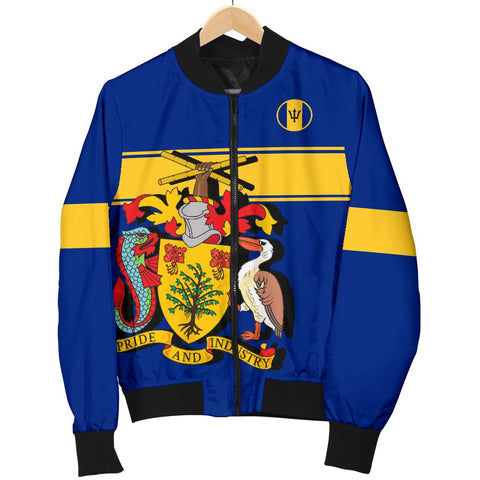 Barbados Version Coat of Arms Women's Bomber Jacket A15